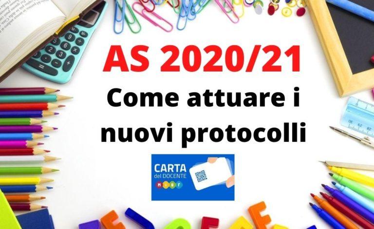 A.S. 2020/21: come rendere operativi nuovi Protocolli sanitari e MIUR